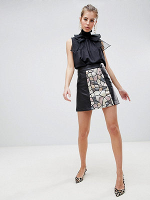 Traffic People Sequin Panelled Mini Skirt - One colour
