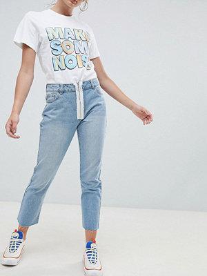 Daisy Street Jeans med dragkedja fram