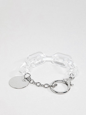 ASOS armband DESIGN bracelet with resin links in silver - Silver