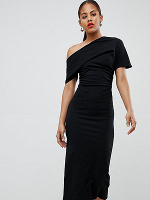 Asos Tall ASOS DESIGN Tall pleated shoulder pencil dress