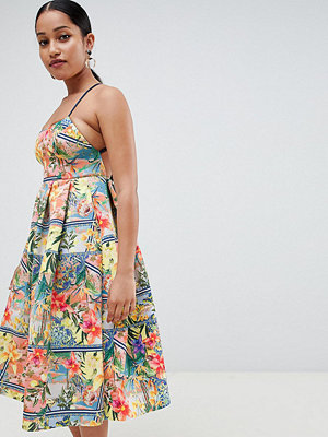 ASOS Petite ASOS DESIGN Petite tropical prom midi dress