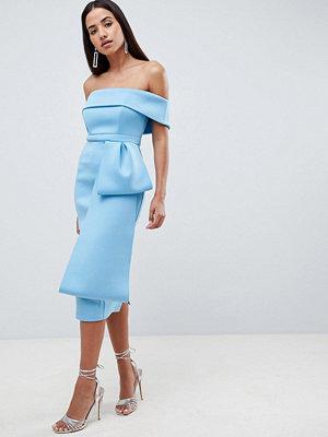 ASOS DESIGN Scuba extreme bow front midi dress