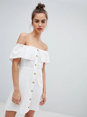 Pull&Bear button down dress in white