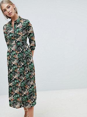 Warehouse shirt dress in tropical print - Multi
