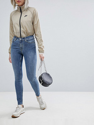 """Weekday Body Blå superskinny jeans med hög midja i ekologisk bomull """"Hyman blue"""""""