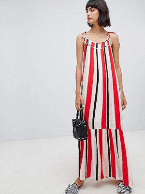 InWear Rose Stripe Maxi Dress - Red stripe