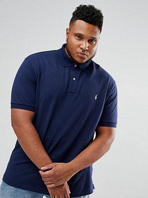 Polo Ralph Lauren Big & Tall pique polo shirt with player logo in navy - Newport navy