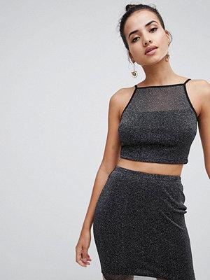 Ax Paris Shimmer Mini Skirt Cami Set