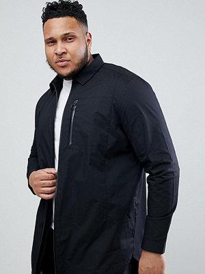 ASOS DESIGN Plus longline shirt with taped zips