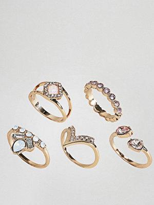 Liars & Lovers Gem Detail Ring Pack