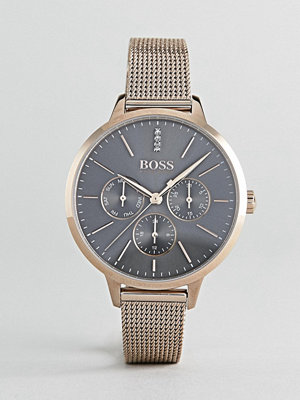 Klockor - BOSS 1502424 Symphony Chronograph Mesh Watch In Rose Gold - Rose gold