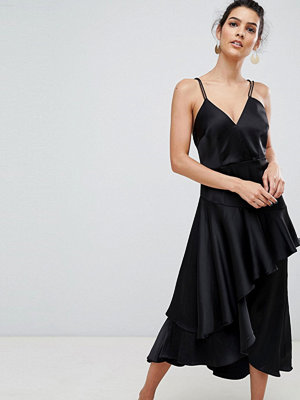 Y.a.s Ruffle Side Cami Dress With Cross Back