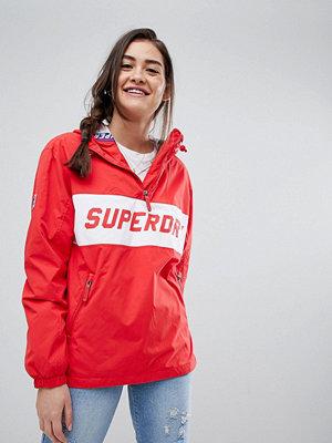 Superdry Skater Logo Pullover Windbreaker - Fire red