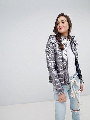 Superdry Metallic Padded Jacket - Silver foil