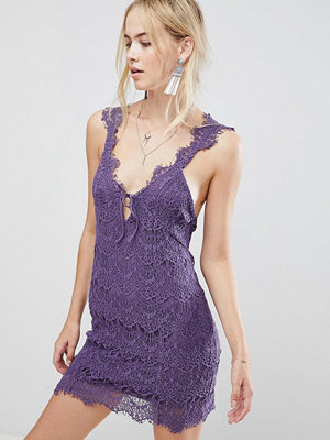 Free People Night Moves Lace Dress - Violet