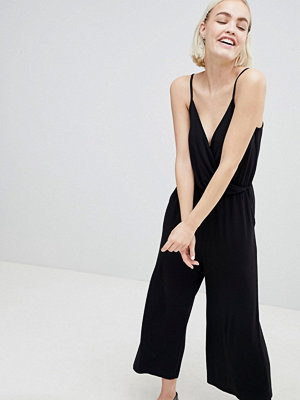 Monki Cami Wrap Croppped Jumpsuit