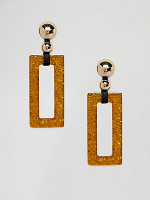 Monki örhängen drop rectangle amber earrings