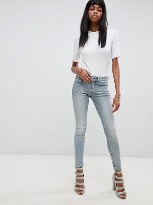 G-Star 3301 Dekonstruerade jeans med hög midja och extra smal passform Lt aged