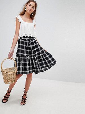 Glamorous check a-line skirt - Black white check