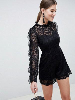 Ax Paris Long Sleeve Lace Playsuit