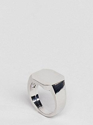 DesignB London Classic Silver Signet Ring