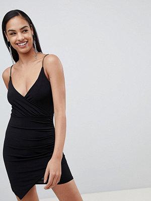 Ra-Re London asymmetric wrap slinky dress