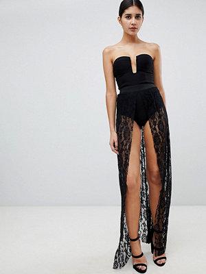 Ra-Re London illusion maxI lace dress
