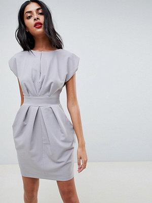 Closet London Pleat Waisted Dress
