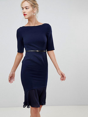 Paper Dolls frill bottom dress - Navy multi