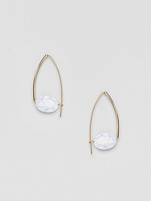 ASOS örhängen DESIGN pull through earrings with marble bead