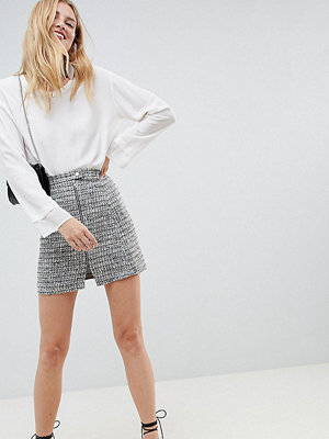 Asos Tall ASOS DESIGN Tall boucle mini skirt with asymmetric zip