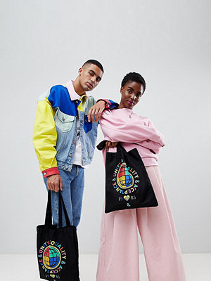 ASOS shopper DESIGN x glaad& tote bag with print