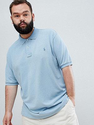 Polo Ralph Lauren Big & Tall pique polo player logo in light indigo blue - Light indigo
