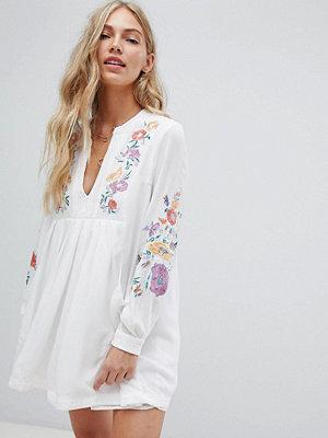 Free People mia gauze embroidered mini dress