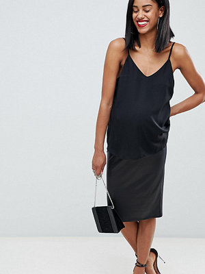 ASOS Maternity ASOS DESIGN Maternity leather look pencil skirt