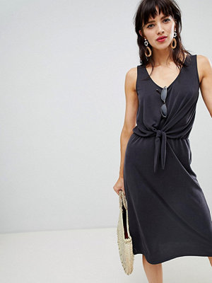 Warehouse midi dress with knot front