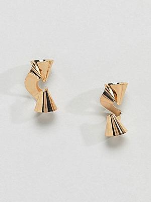 Glamorous örhängen Gold Metal Twist Earrings