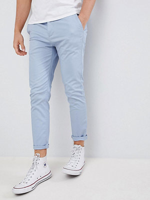 ASOS DESIGN skinny cropped chinos in dusky blue - Ashley blue