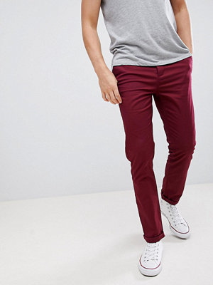 ASOS DESIGN slim chinos in burgundy - Zinfandel