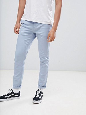 ASOS DESIGN Slim Chinos In Dusky Blue - Ashley blue