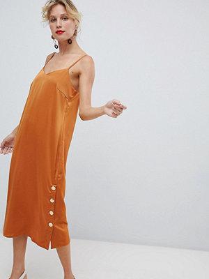 Y.a.s Side Split Copper Button Detail Cami Dress