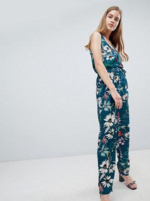 Brave Soul floral jumpsuit - Teal