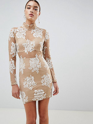 Missguided cut out lace up bodycon dress