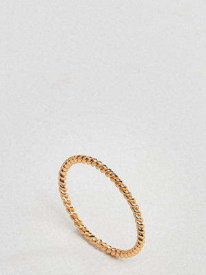 DesignB London Gold Plated Sterling Silver Twisted Ring
