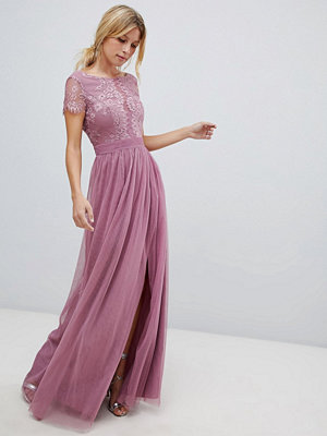 Little Mistress lace top maxi dress - Canyon rose