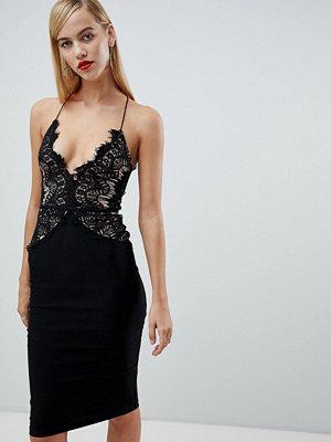Ra-Re London limited edition long sleeve eyelash lace midi dress