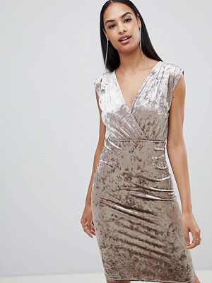 Ra-Re London velvet wrap midi dress