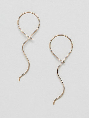 ASOS örhängen DESIGN earrings with fine twist pull through design