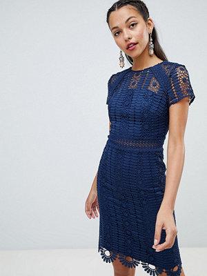 Chi Chi London cap sleeve lace pencil dress