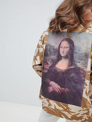 Reclaimed Vintage inspired art print camo jacket - Sand